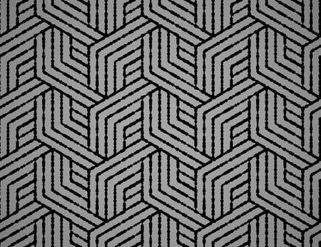 Abstract geometric pattern with stripes, lines. Seamless vector background. Black and gray ornament. Simple lattice graphic design Illustration