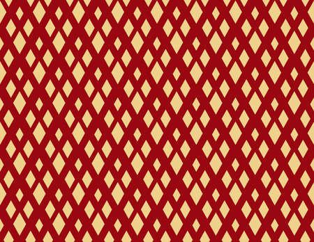 Abstract geometric pattern. A seamless vector background. Gold and red ornament. Graphic modern pattern. Simple lattice graphic design