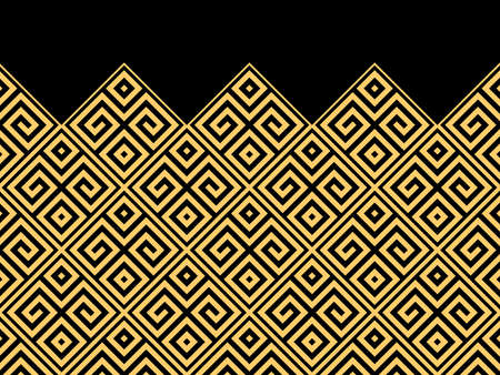 Abstract geometric pattern. Modern vector background. Gold and black ornament. Graphic modern pattern. Simple lattice graphic design Illustration