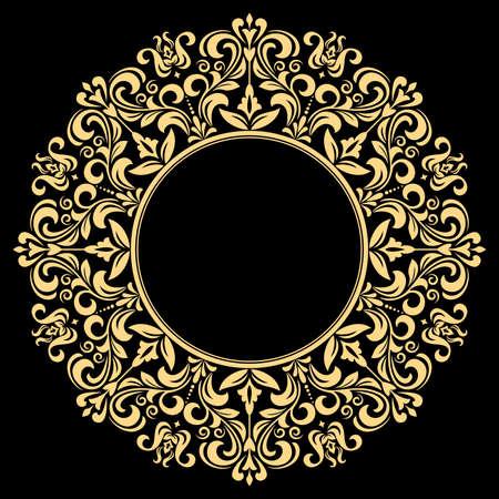 Decorative frame Elegant vector element for design in Eastern style, place for text. Floral golden border. Lace illustration for invitations and greeting cards. Reklamní fotografie - 166852806