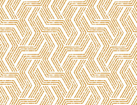 Abstract geometric pattern with stripes, lines. Seamless vector background. White and gold ornament. Simple lattice graphic design Reklamní fotografie - 166905580