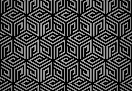 Abstract geometric pattern. A seamless vector background. Black and gray ornament. Graphic modern pattern. Simple lattice graphic design Reklamní fotografie - 166905582