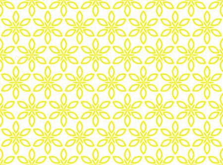 Flower geometric pattern. Seamless vector background. White and yellow ornament Reklamní fotografie - 166905593