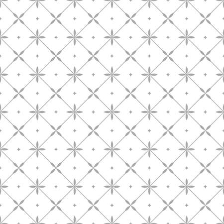 Flower geometric pattern. Seamless vector background. White and gray ornament. Reklamní fotografie - 166905608