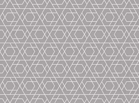 The geometric pattern with lines. Seamless vector background. White and gray texture. Graphic modern pattern. Simple lattice graphic design. Reklamní fotografie - 166905609