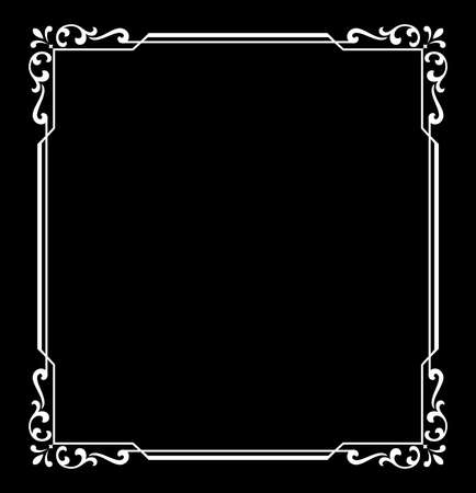 Decorative frame Elegant vector element for design in Eastern style, place for text. Floral black and white border. Lace illustration for invitations and greeting cards Reklamní fotografie - 167126732