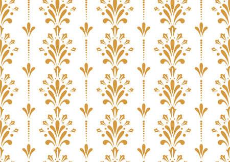 Flower geometric pattern. Seamless vector background. White and gold ornament Reklamní fotografie - 167126733