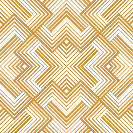 Abstract geometric pattern with stripes, lines. Seamless vector background. White and gold ornament. Simple lattice graphic design Standard-Bild - 167126734