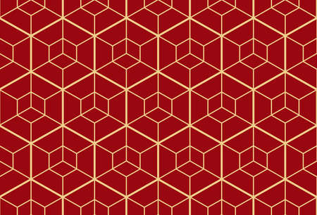The geometric pattern with lines. Seamless vector background. Gold and red texture. Graphic modern pattern. Simple lattice graphic design Reklamní fotografie - 167126735
