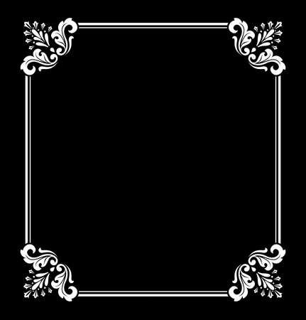 Decorative frame Elegant vector element for design in Eastern style, place for text. Floral black and white border. Lace illustration for invitations and greeting cards 写真素材 - 167126741