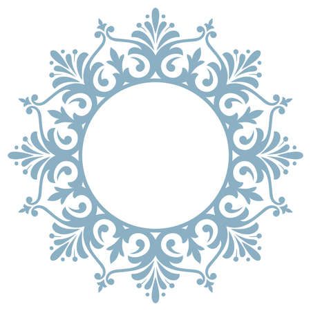 Decorative frame Elegant vector element for design in Eastern style, place for text. Floral blue and white border. Lace illustration for invitations and greeting cards Reklamní fotografie - 167126769