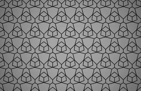 The geometric pattern with lines. Seamless vector background. Black and gray texture. Graphic modern pattern. Simple lattice graphic design Ilustrace