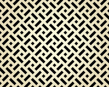 Abstract geometric pattern. A seamless vector background. Black and beige ornament. Graphic modern pattern. Simple lattice graphic design Reklamní fotografie - 167126801