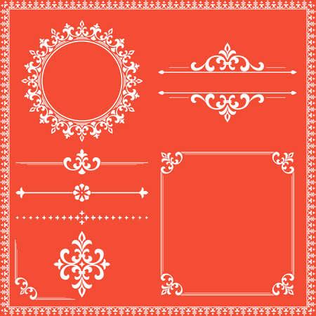 Vintage Set. Floral elements for design monograms, invitations, frames, menus and labels. Graphic design of the website, cafes, boutiques, hotels, wedding invitations. Reklamní fotografie - 167126919