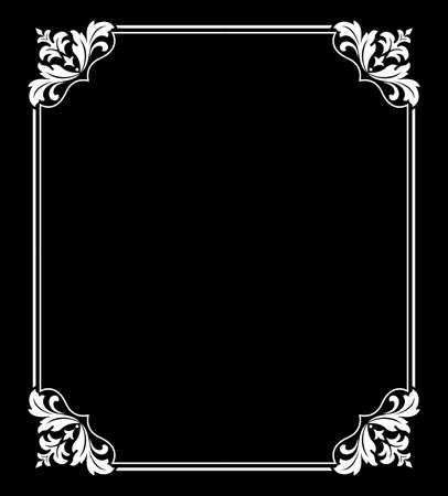 Decorative frame Elegant vector element for design in Eastern style, place for text. Floral black and white border. Lace illustration for invitations and greeting cards Reklamní fotografie - 167229614