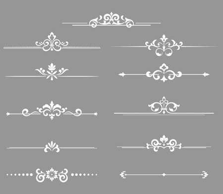 Vintage set. Floral elements for design monograms, invitations, frames, menus and labels. Graphic design of the website, cafes, boutiques, hotels, wedding invitations. Ilustrace