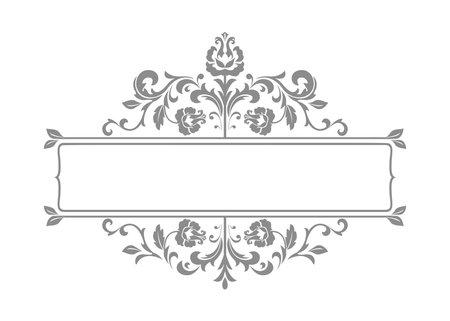 Vintage gray element. Graphic vector design. Damask graphic ornament Ilustrace