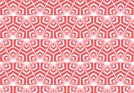 Flower geometric pattern. Seamless vector background. White and pink ornament Ilustrace