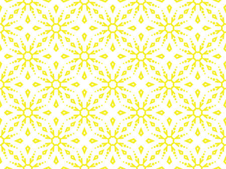 Abstract geometric pattern with lines, snowflakes. A seamless vector background. White and yellow texture. Graphic modern pattern Ilustrace