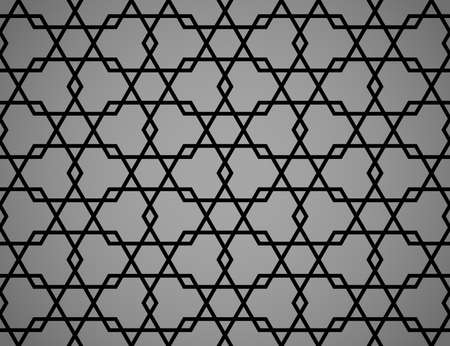 The geometric pattern with lines. Seamless vector background. Black and gray texture. Graphic modern pattern. Simple lattice graphic design Stock Illustratie