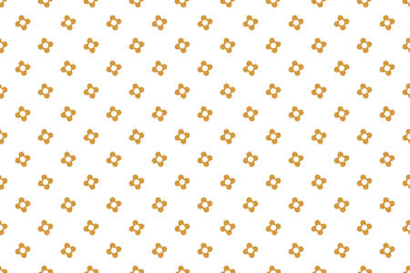 Flower geometric pattern. Seamless vector background. White and gold ornament. Ornament for fabric, wallpaper, packaging. Decorative print