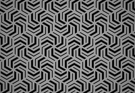 Abstract geometric pattern with stripes, lines. Seamless vector background. Black and gray ornament. Simple lattice graphic design Stock Illustratie