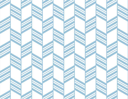 Abstract geometric pattern with stripes, lines. Seamless vector background. White and blue ornament. Simple lattice graphic design