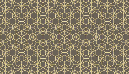 The geometric pattern with lines. Seamless vector background. Beige and gray texture. Graphic modern pattern. Simple lattice graphic design Stock Illustratie