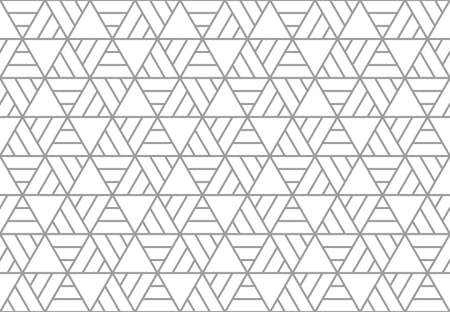 Abstract geometric pattern. A seamless vector background. White and gray ornament. Graphic modern pattern. Simple lattice graphic design. Stock Illustratie