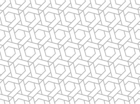 The geometric pattern with lines. Seamless vector background. White and gray texture. Graphic modern pattern. Simple lattice graphic design .. 矢量图像