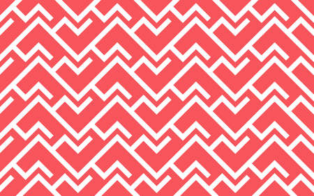 Abstract geometric pattern with stripes, lines. Seamless vector background. White and pink ornament. Simple lattice graphic design 矢量图像