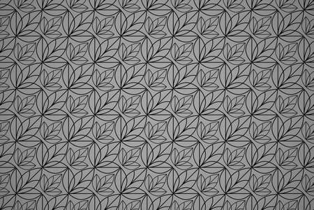 Flower geometric pattern. Seamless vector background. Black and gray ornament Stock Illustratie