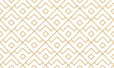 The geometric pattern with lines. Seamless vector background. White and gold texture. Graphic modern pattern. Simple lattice graphic design Foto de archivo - 168166851