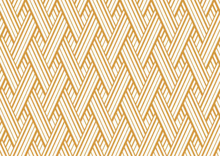Abstract geometric pattern with stripes, lines. Seamless vector background. White and gold ornament. Simple lattice graphic design Foto de archivo - 168166860