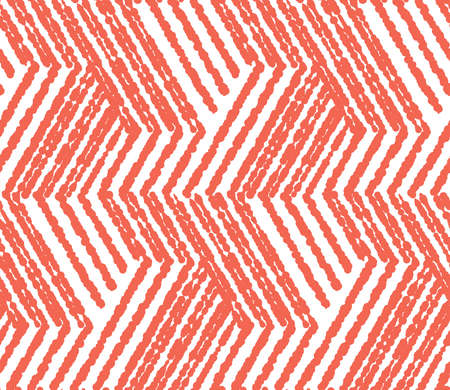 Abstract geometric pattern with stripes, lines. Seamless vector background. White and pink ornament. Simple lattice graphic design Vectores