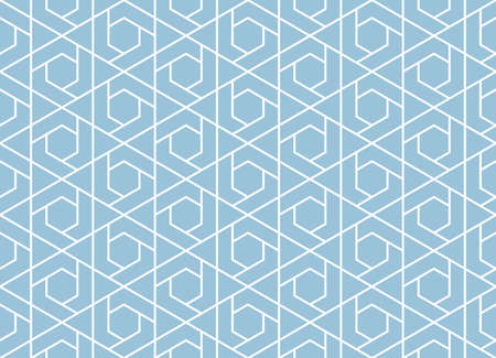 The geometric pattern with lines. Seamless vector background. White and blue texture. Graphic modern pattern. Simple lattice graphic design 일러스트