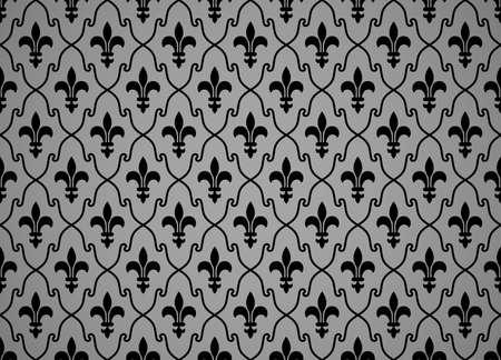 Flower geometric pattern. Seamless vector background. Black and gray ornament 일러스트