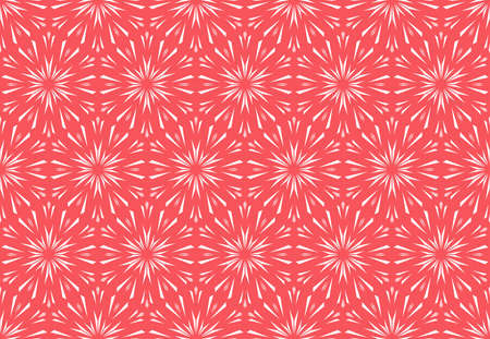 Abstract geometric pattern with lines, snowflakes. A seamless vector background. White and pink texture. Graphic modern pattern 일러스트