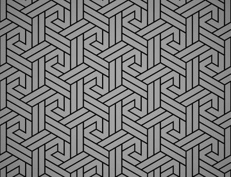 Abstract geometric pattern with stripes, lines. Seamless vector background. Black and gray ornament. Simple lattice graphic design 일러스트