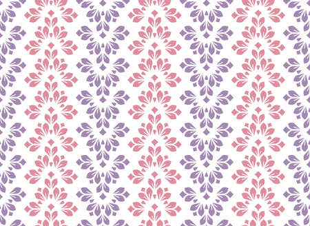 Flower geometric pattern. Seamless vector background. Colored ornament