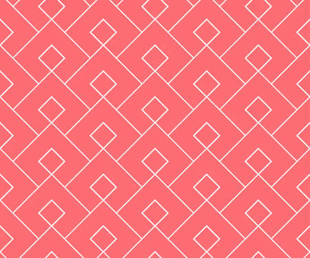 Abstract geometric pattern. A seamless vector background. White and pink ornament. Graphic modern pattern. Simple lattice graphic design