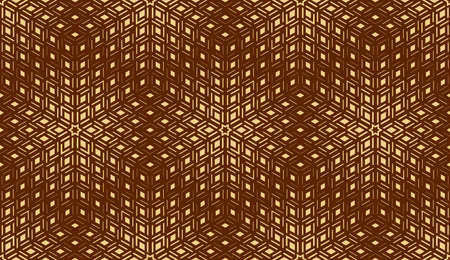 Abstract geometric pattern. Seamless vector background. Dark brown and gold halftone. Graphic modern pattern. Simple lattice graphic design