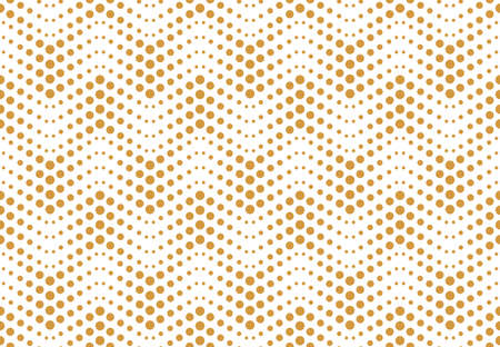 The geometric pattern with points. Seamless vector background. White and gold texture. Simple lattice graphic design