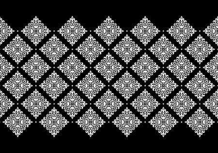 Wallpaper in the style of Baroque. Modern vector background. White and black floral ornament. Graphic pattern for fabric, wallpaper, packaging. Ornate Damask flower ornament Vectores