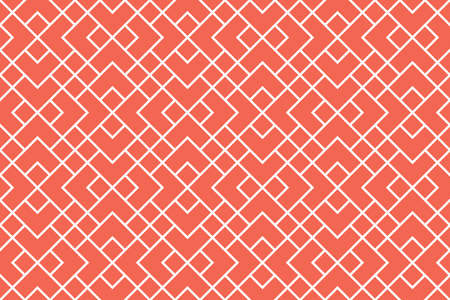 The geometric pattern with lines. Seamless vector background. White and pink texture. Graphic modern pattern. Simple lattice graphic design