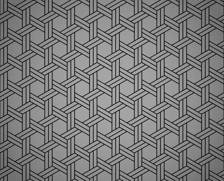 Abstract geometric pattern with stripes, lines. Seamless vector background. Black and gray ornament. Simple lattice graphic design Vectores