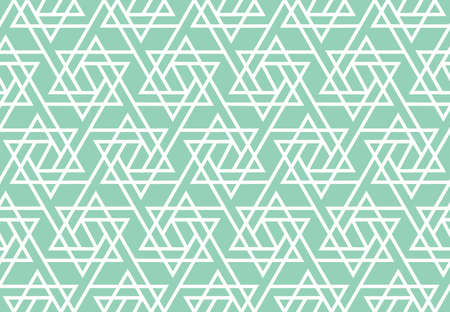 Abstract geometric pattern. A seamless vector background. White and green ornament. Graphic modern pattern. Simple lattice graphic design