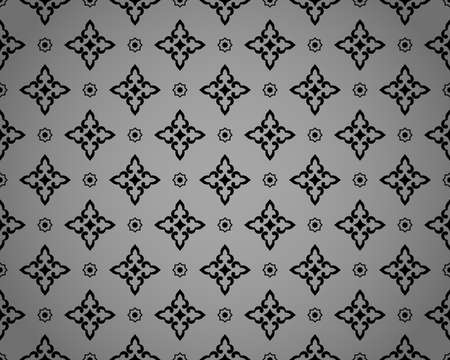 Abstract geometry pattern in Arabian style. Seamless vector background. Black and gray graphic ornament. Simple lattice graphic design