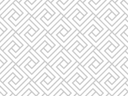 Abstract geometric pattern. A seamless vector background. White and gray ornament. Graphic modern pattern. Simple lattice graphic design. Vectores