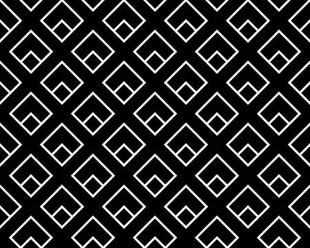 Abstract geometric pattern. A seamless vector background. White and black ornament. Graphic modern pattern. Simple lattice graphic design